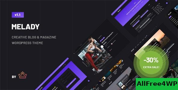 Nulled Melady v1.0 – Creative Blog & Magazine WordPress Theme NULLED